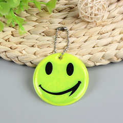 PVC reflective pendant key ring pendant filled cotton smiling face child schoolbag pendant According to the guest custom According to the guest custom