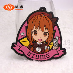 Japanese cartoon key chain PVC flexible rubber key chain customized advertising promotion of silicon red 43 * 50 * 3 mm