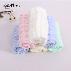 Six layer full cotton gauze small square towel washing up the wrinkle saliva towel baby wipe mouth s white