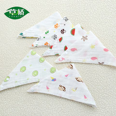 Wholesale high-density four-layer baby triangle towel men`s and women`s baby saliva towel double cla Pattern 1