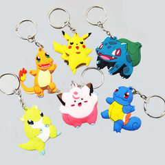 Cartoon PVC key ring creative key ring pokemon magic baby pendant pocket monsters gift Mix and match 6 cm