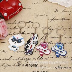 厂家专业定制生产卡通软胶钥匙扣批发PVC硅胶塑胶钥匙挂件配饰 多色供选 通用