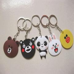 熊猫韩国布朗熊line熊本熊卡通pvc软胶钥匙扣批发钥匙扣挂件定制 布朗熊钥匙扣