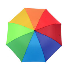 雨伞批发定制三折叠8骨彩虹伞10骨保险广告商务礼品伞可加印LOGO 三折彩虹伞 53.5cm*8k