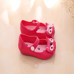 2018 children`s shoes minised jelly children`s shoes brand children`s shoes school shoes children`s  Mei red 24