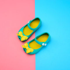 Summer 2017 girls sandals Melissa bowknot jelly shoes children beach shoes girls princess shoes whol green 24