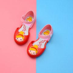 2017夏季新款童鞋 梅丽莎儿童果冻鞋厂家直销童鞋女童公主鞋 红色 24
