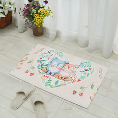 Home home home with original illustrations bear cartoon ground mat thickened absorbing water anti -  Picture the swing bear pink 40 * 60 cm upset