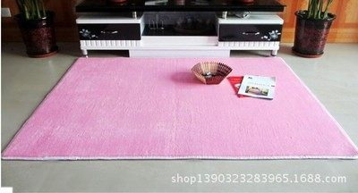 Short wool coralline mat can be washed super soft slippery carpet living room bedroom carpet kitchen pink 40 * 60 cm
