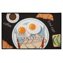 Heat transfer printing crystal velvet floor mat blanket customized kitchen bathroom door mat wholesa Happy hibiscus egg 40 * 60 cm