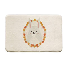 [spot] the floor mat for the kitchen toilet, the bathroom, the water absorption, the slippery coral- Cute little rabbit 40 * 60 cm