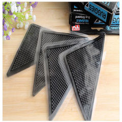 Carpet mat anti-skid PU triangular patch for household environmental protection carpet anti-skid fix black 150 * 75 * 2 mm