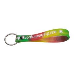 硅胶钥匙扣厂家定制成人手环橡胶钥匙扣地摊促销品单色矽胶钥匙扣 混色 202*12*2mm