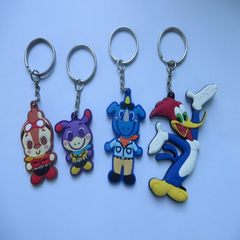 PVC soft rubber key chain environmental protection health manufacturers direct wholesale a large num 6 * 4 * 0.4 CM