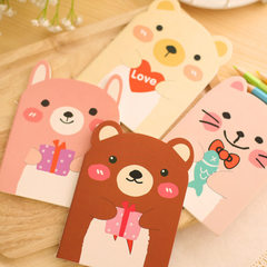 T Korean stationery cute little bear notebook animal notepad cartoon with this student gift wholesal 20