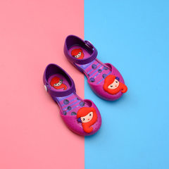Summer new girl sandals 2017 Melissa jelly shoes mermaid Korean version of lovely princess shoes who purple 24