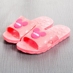 New style children`s slippers cartoon anti-skid cool slippers for children in indoor and outdoor coo Watermelon red 31