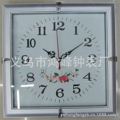 High quality plastic wall clock yiwu garden wall clock simple style fashionable wall clock factory yellow