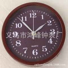 Plastic wall clock welcome customers to open the mold LOGO customized negotiations white
