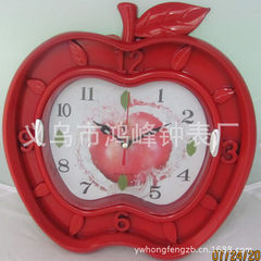 Quartz clock with plastic cartoon technology is welcome to yiwu clock factory red