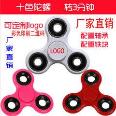 Finger tip gyros between the three - leaf corner finger tip spiral edc pressure 608 bearing toys can white