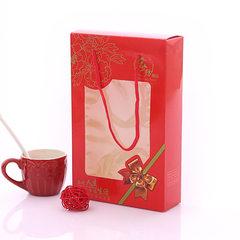 红礼结单条手提盒 婚庆毛巾礼品盒 结婚送礼 开年降价 20.5*13*4.5CM