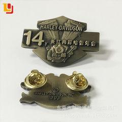 厂家金属徽章定制 公司学校校徽锌合金胸章 毕业礼品纪念奖章定做 30x30x2.5mm