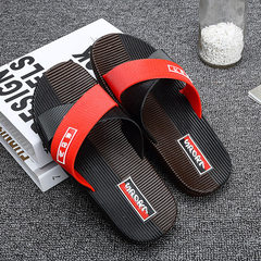 Summer 2017 leisure men`s slippers beach slippers comfortable household slippers soft anti-slippery  Red and black colours 39