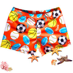 2018 new swimming center cartoon children`s swimsuit boys swimming pants fashion children swimming p The orange ball m