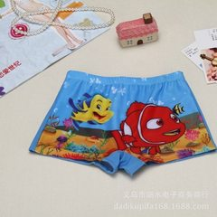 Manufacturer direct selling children`s swimsuit boy cartoon swimsuit baby swimsuit boy flat Angle sw Small fish style All code