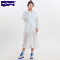 New EVA environmental protection light travel raincoat adult non-disposable outdoor raincoat creativ white All code