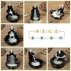 Small wholesale ceramic reflow incense tray ceramic incense burner tower incense cone incense burner Style 1