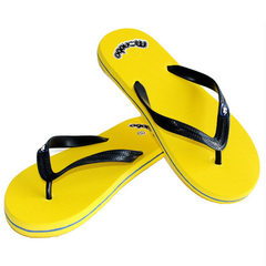 百乐猴卡通厂家直销批发 爆款 沙滩鞋平底 橡胶人字拖男男式凉鞋 黄色 40