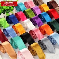 Spot tie leisure Korean version of 5cm solid color tie narrow version of British men`s manufacturers C - C - 251 light grey