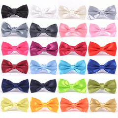 韩版 正装领带 商务绅士领结 男士纯色领结 结婚领结 糖果色24色 L1