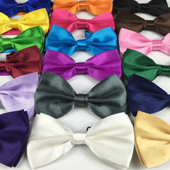 Adult male confectionery color bow tie the groom performs a monochrome solid color tie double spinni WMJ - 1 black