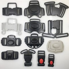 Spot supply of plastic three-way five-point buckle back strap buckle child car accessories support c black