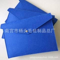 定制a4手提办公会议文件包电脑包定做学生手拿毛毡文件袋毛毡包 黑色 13寸