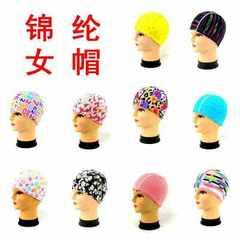 泳帽男女通用游泳帽 儿童泳帽 潜水帽 拼接游泳布帽批发厂家直销 混色随机