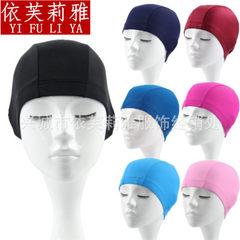 【游泳馆供应】成人泳帽花色纯色男女通用布泳帽批发现货 粉色