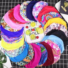 厂家批发布帽纯色花色黑色成人男女护耳大号长发定制锦纶游泳帽 黑色