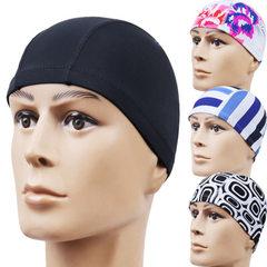泳帽女 长发时尚护耳可爱布成人大号舒适游泳装备 男游泳帽 6207男款(颜色随机)