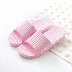 Quiet slippers ladies summer home cool slippers indoor anti-skid bath soft-sole lovers men`s bathroo pink 36 and 37