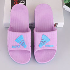 Hot style bathroom slipper anti-skid bath water leakage indoor men and women plastic home lovers coo purple 37