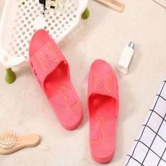 Household bathroom slippers women`s summer flip-flops men`s and women`s flip-flops indoor and outdoo red 36