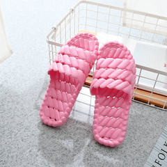 Manufacturer wholesale bathroom slipper anti-skid bath water leakage home indoor slippers lovers flo Hollow pink 36-37 yards (240mm)