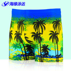 2017 new beach swimwear beach coconut print swimwear size men`s flat Angle swimwear men`s swimwear 1 color Average size (for 120-200 kg)