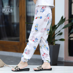 New type of children`s mian silk knickerbockers manufacturers direct sale of children`s cotton mosqu FR piglet Peggy 90 cm