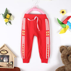 Spring 2018 new boys` casual sport pants children`s hair circle pants 1-4 years old dual purpose pan red Whole hand wholesale/hand 2