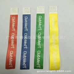 Production of disposable tyvek dupont paper wrist band with disposable bracelet synthetic paper wris 25 * 2 cm